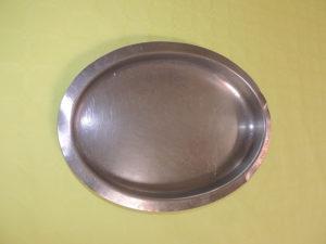 Plat inox ovale