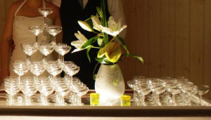 Cascade de coupe à champagne